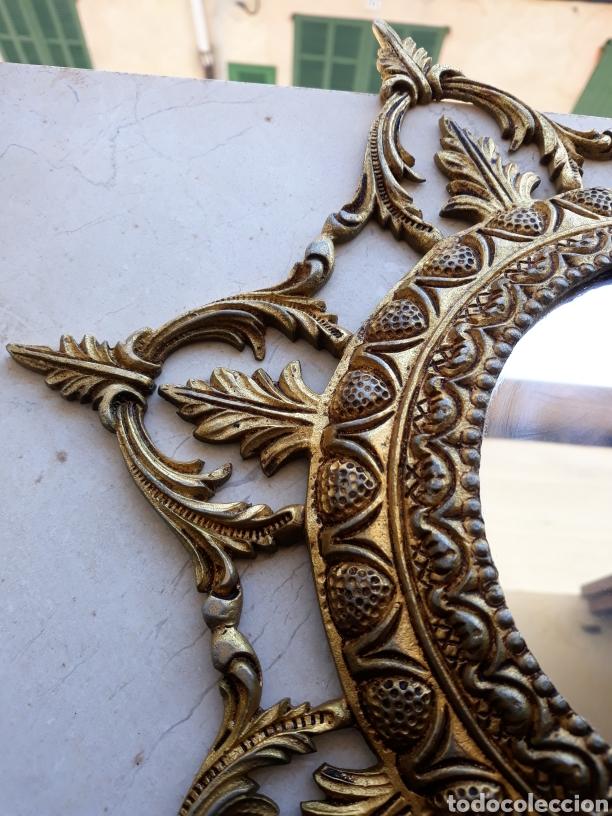 Antigüedades: Espejo sol hierro - Foto 2 - 161447438