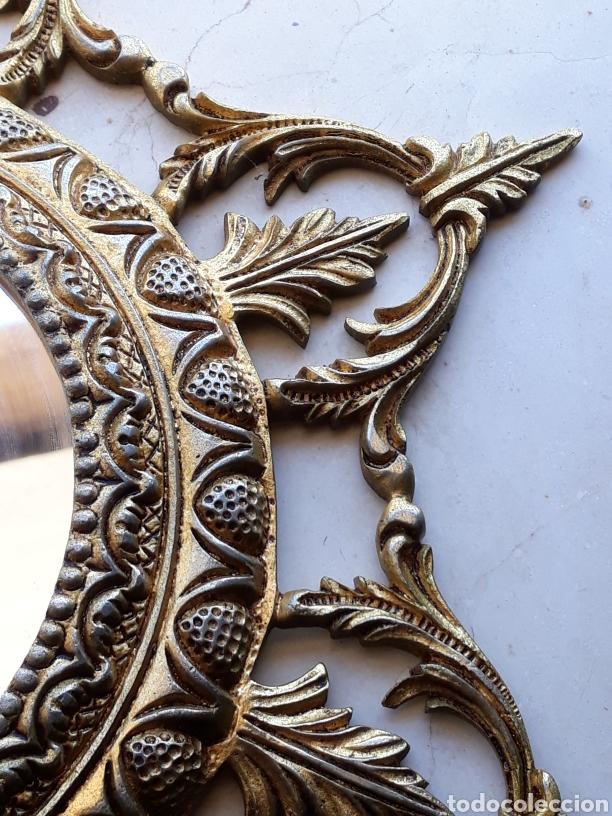 Antigüedades: Espejo sol hierro - Foto 3 - 161447438