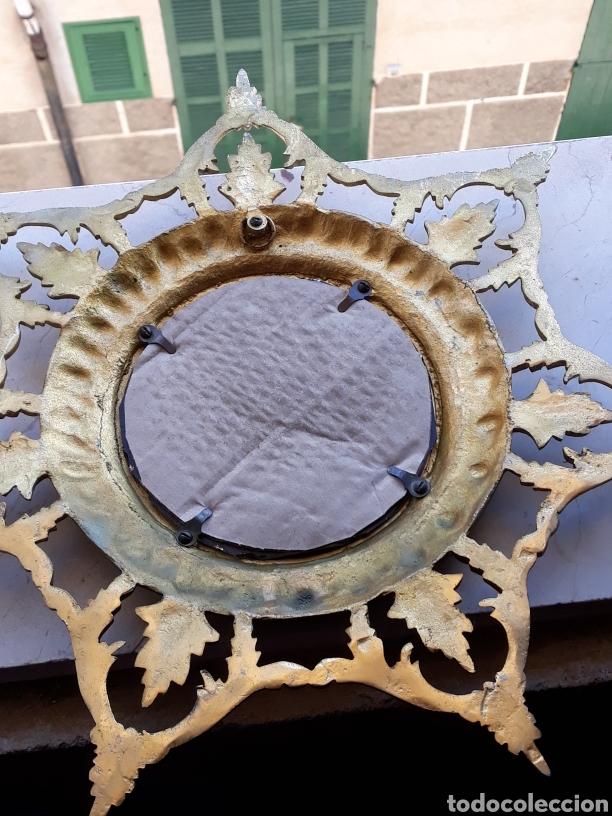 Antigüedades: Espejo sol hierro - Foto 4 - 161447438