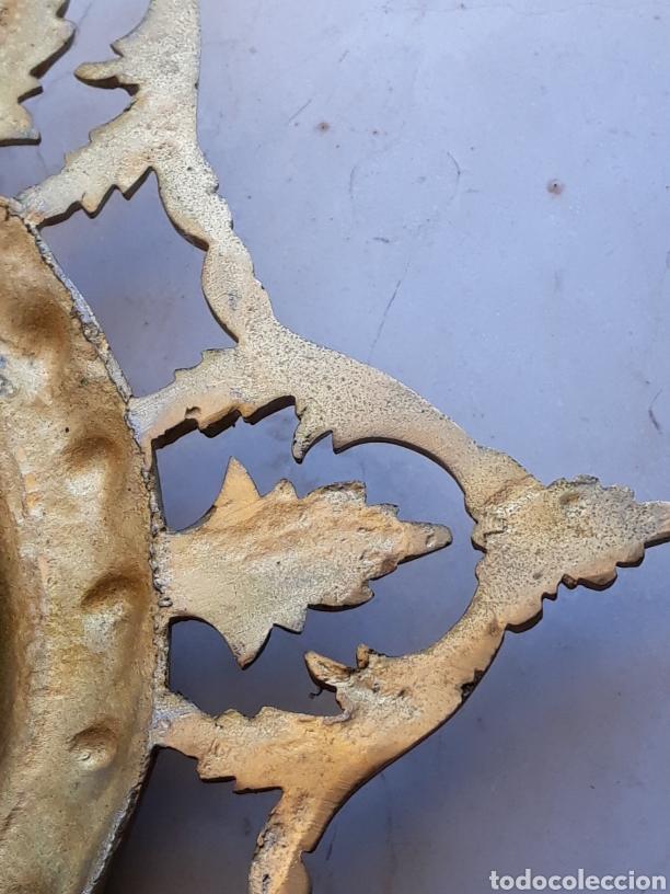 Antigüedades: Espejo sol hierro - Foto 6 - 161447438