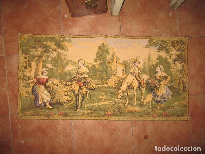 TAPIZ PEQUEÑO (Antigüedades - Hogar y Decoración - Tapices Antiguos)