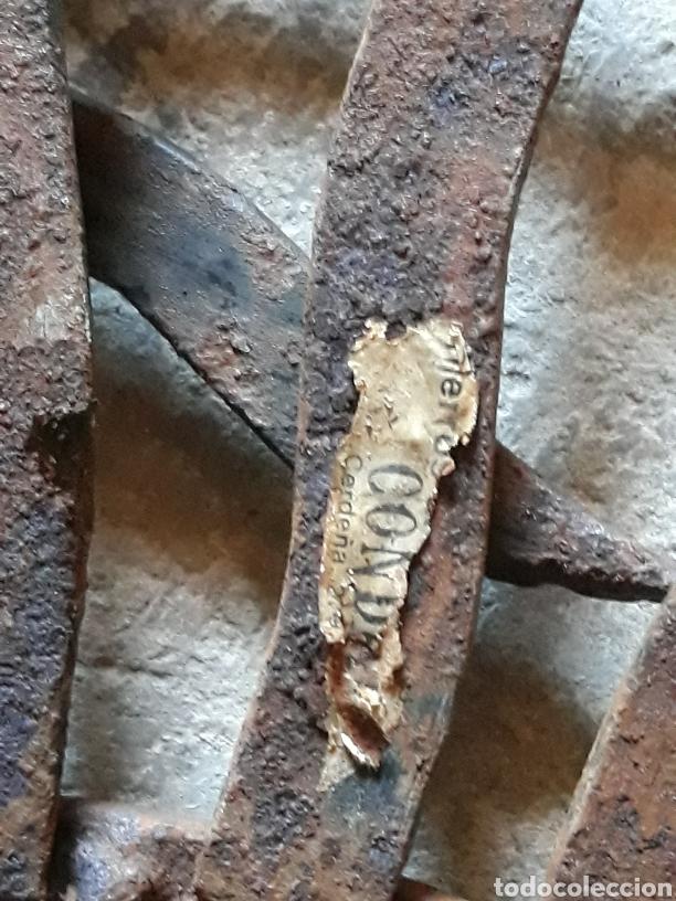 Antigüedades: Espejo sol hierro - Foto 9 - 161450645