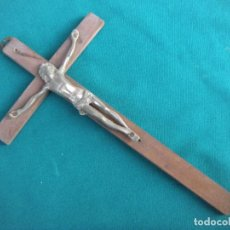 Antigüedades: CRUCIFIJO DE COLGAR. Lote 161458126