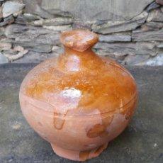 Antigüedades: HUCHA DE CERÁMICA DE MONDOÑEDO. Lote 161473118