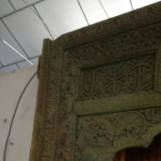 Antigüedades: ARCADA DE MADERA TALLADA. Lote 161474029