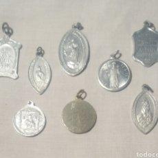 Antigüedades: LOTE DE MEDALLAS RELIGIOSAS. Lote 161492092