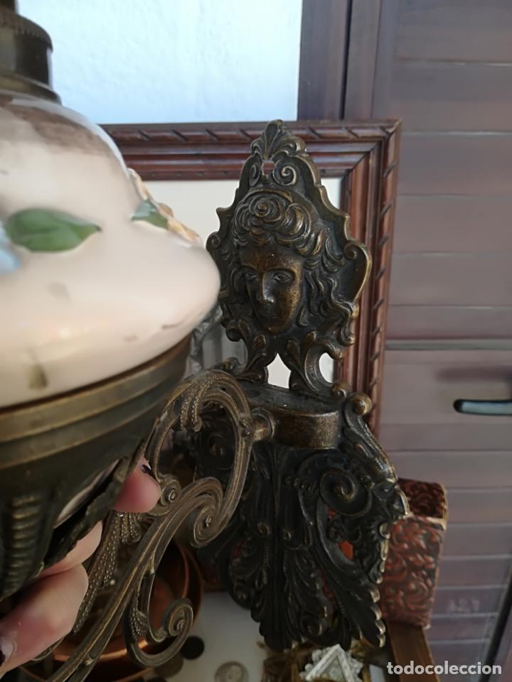 Antigüedades: Quinquel con soporte - Foto 2 - 161506998
