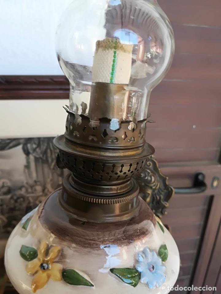 Antigüedades: Quinquel con soporte - Foto 4 - 161506998