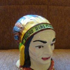 Antigüedades: HUCHA DOMUND INDIO AMERICANO. PRINCIPIOS DE LOS 60.. Lote 161529854
