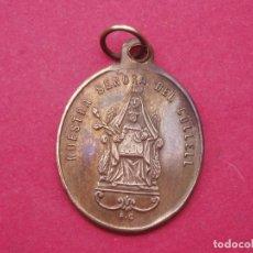 Antigüedades: MEDALLA VIRGEN DEL COLLELL Y SANTUARIO. FERRIOL. GIRONA. SIGLO XIX. Lote 161546854