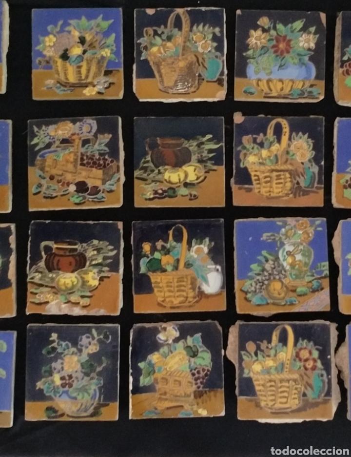 Antigüedades: Magnífico lote 31 azulejos Hijo de Mensaque Triana. Bodegones - Foto 3 - 161555845