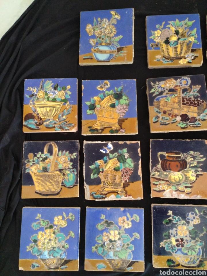 Antigüedades: Magnífico lote 31 azulejos Hijo de Mensaque Triana. Bodegones - Foto 5 - 161555845