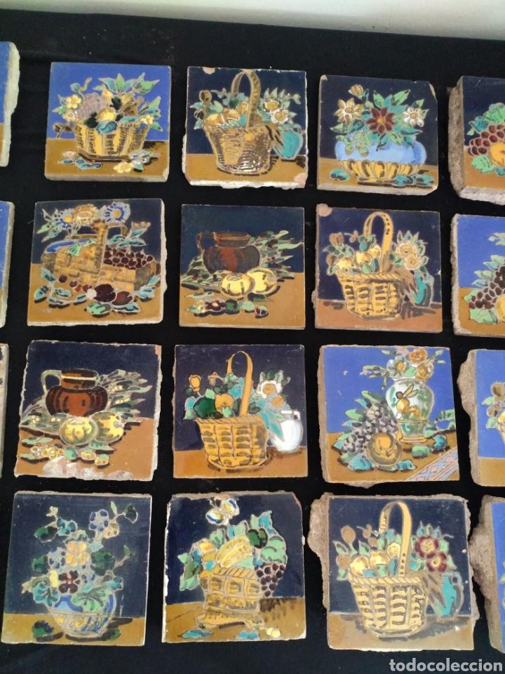 Antigüedades: Magnífico lote 31 azulejos Hijo de Mensaque Triana. Bodegones - Foto 6 - 161555845