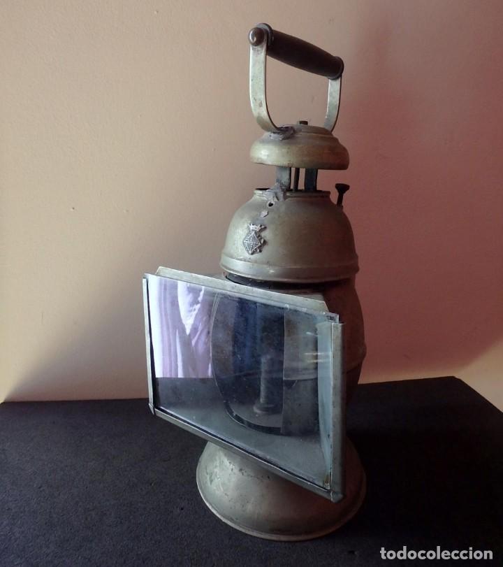 (JX-190456)ANTIGUO FAROL , LINTERNA DE SERENO DE BARCELONA , POLICÍA NOCTURNA , VIGILANTE . (Antigüedades - Iluminación - Faroles Antiguos)