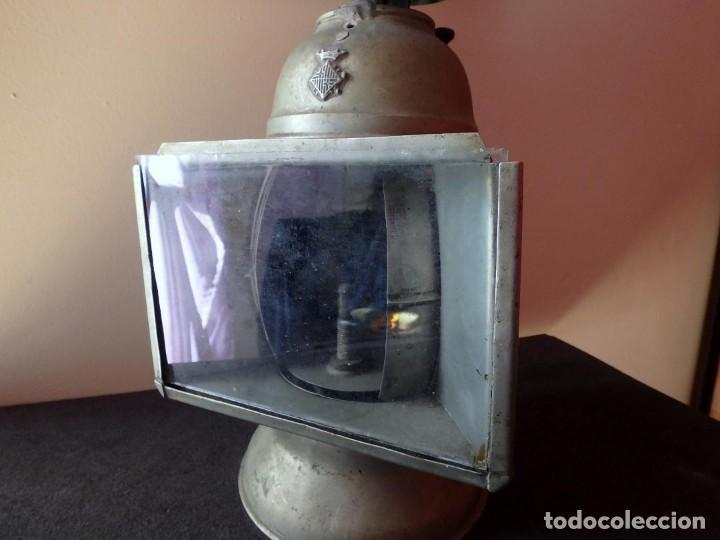 Antigüedades: (JX-190456)Antiguo farol , linterna de Sereno de Barcelona , Policía Nocturna , Vigilante . - Foto 2 - 161558026