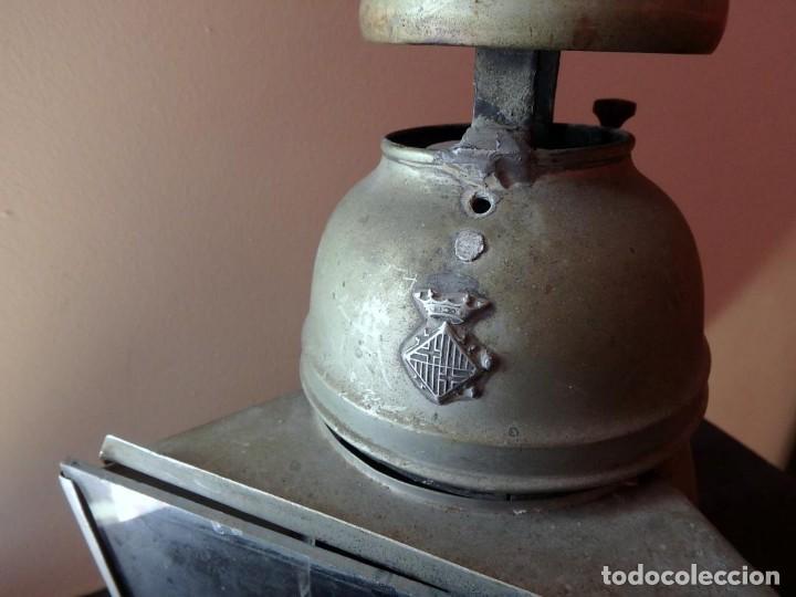 Antigüedades: (JX-190456)Antiguo farol , linterna de Sereno de Barcelona , Policía Nocturna , Vigilante . - Foto 3 - 161558026