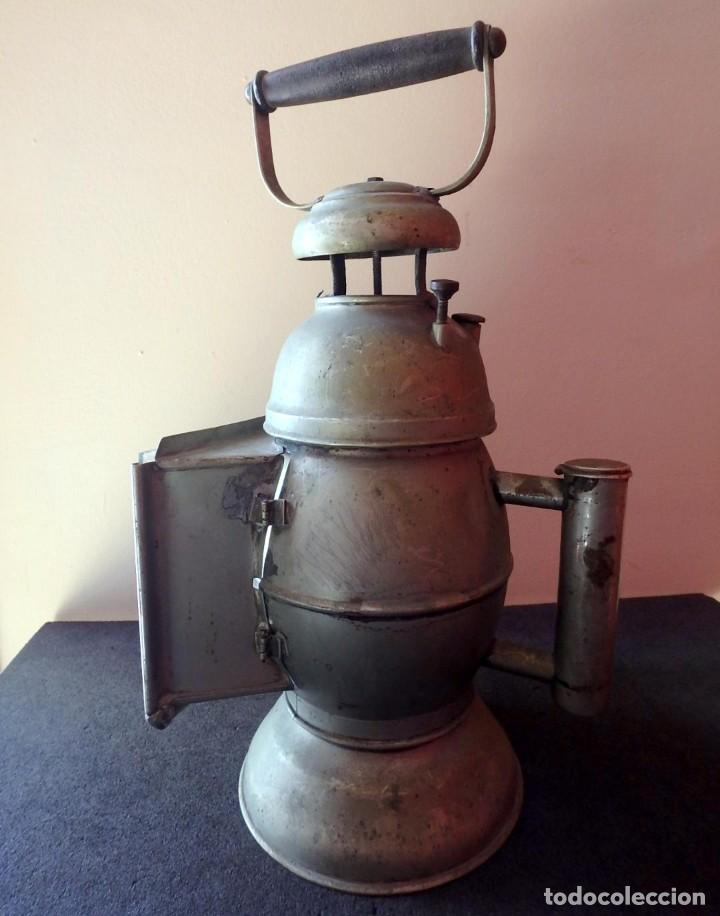 Antigüedades: (JX-190456)Antiguo farol , linterna de Sereno de Barcelona , Policía Nocturna , Vigilante . - Foto 6 - 161558026