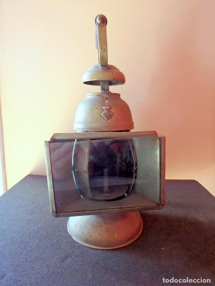 Antigüedades: (JX-190456)Antiguo farol , linterna de Sereno de Barcelona , Policía Nocturna , Vigilante . - Foto 14 - 161558026