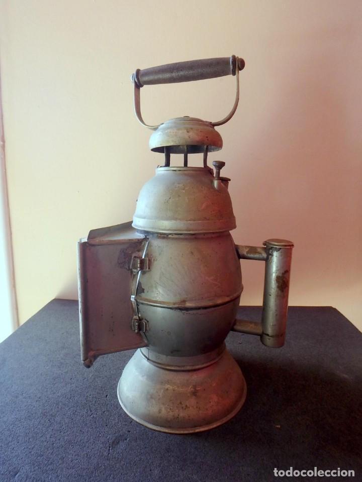 Antigüedades: (JX-190456)Antiguo farol , linterna de Sereno de Barcelona , Policía Nocturna , Vigilante . - Foto 15 - 161558026
