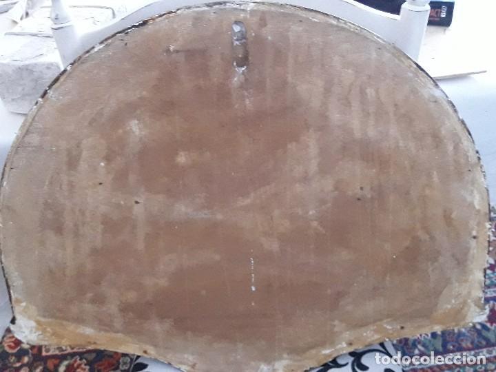 Antigüedades: Bajorrelieve última cena, yeso y madera firmado y numerado - Foto 4 - 161566602