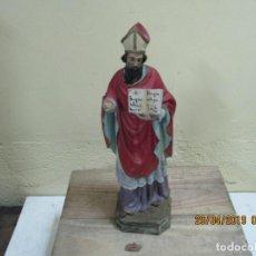 Antigüedades: EXCELENTE SANTO DE ESTUCO SELLADO . Lote 161624598