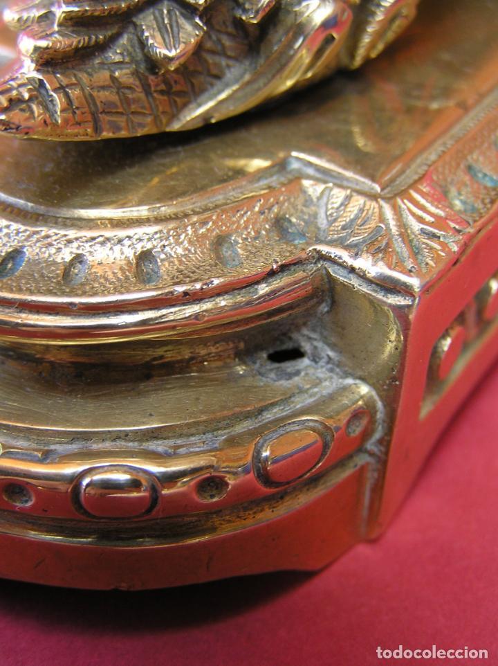 Antigüedades: ACERICO , ALFILETERO. ZAPATO SOBRE BASE. BRONCE. SIGLO XIX. - Foto 21 - 161649830