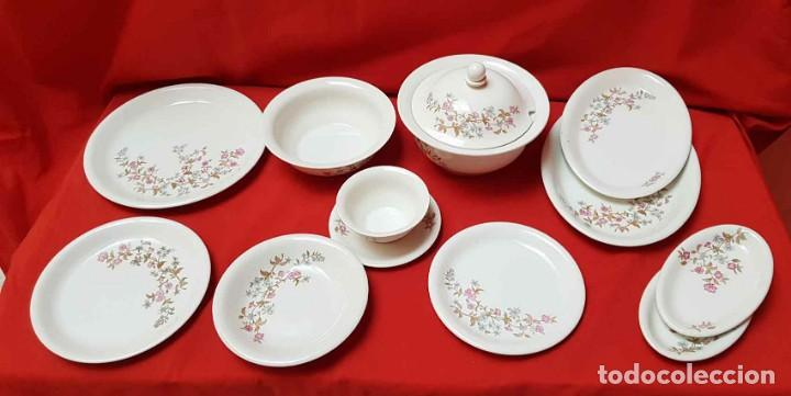 VAJILLA PONTESA ROYAL CHINA VIGO (SANTA CLARA), 56 PIEZAS, NUEVA, SIN USAR (Antigüedades - Porcelanas y Cerámicas - Otras)