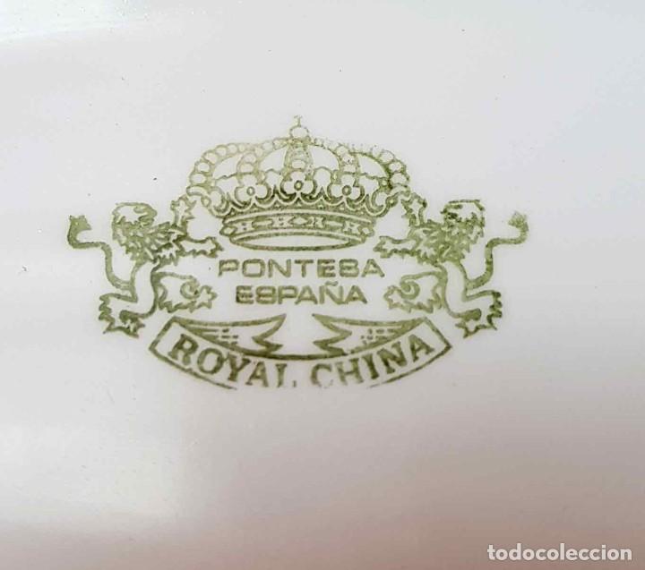 Antigüedades: VAJILLA PONTESA ROYAL CHINA VIGO (SANTA CLARA), 56 PIEZAS, nueva, sin usar - Foto 12 - 161657486