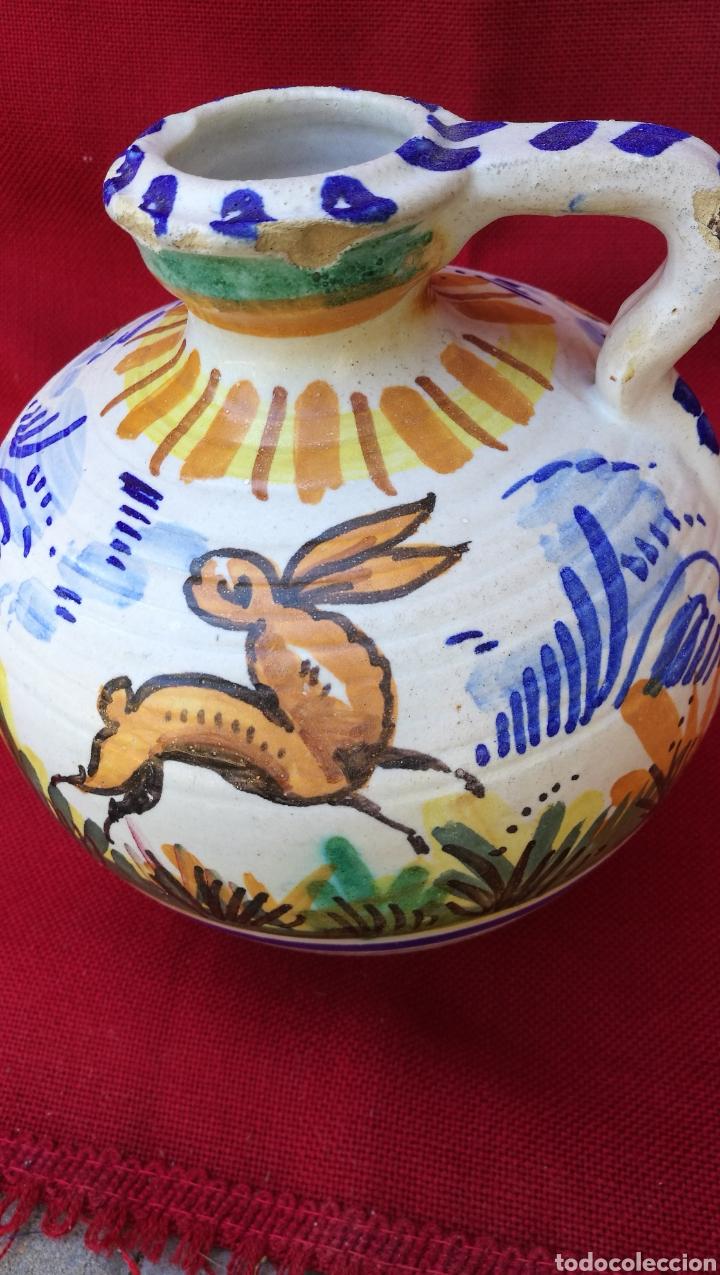 ANTIGUA PERULERA EN CERAMICA ESMALTADA DE TRIANA (Antigüedades - Porcelanas y Cerámicas - Triana)