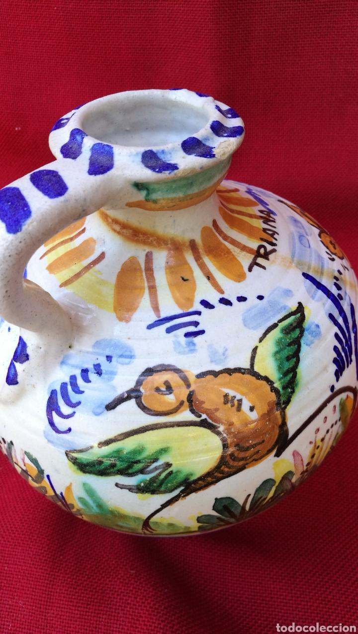 Antigüedades: ANTIGUA PERULERA EN CERAMICA ESMALTADA DE TRIANA - Foto 3 - 161674421