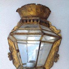 Antigüedades: FAROL DE PARED ANDALUZ. Lote 161702774