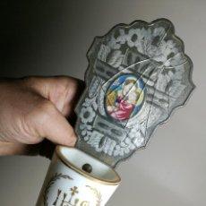 Antigüedades: BENDITERA ESPAÑOLA PILETA LA GRANJA DE SAN ILDEFONSO. SIGLO XVIII-XIX. Lote 161707698