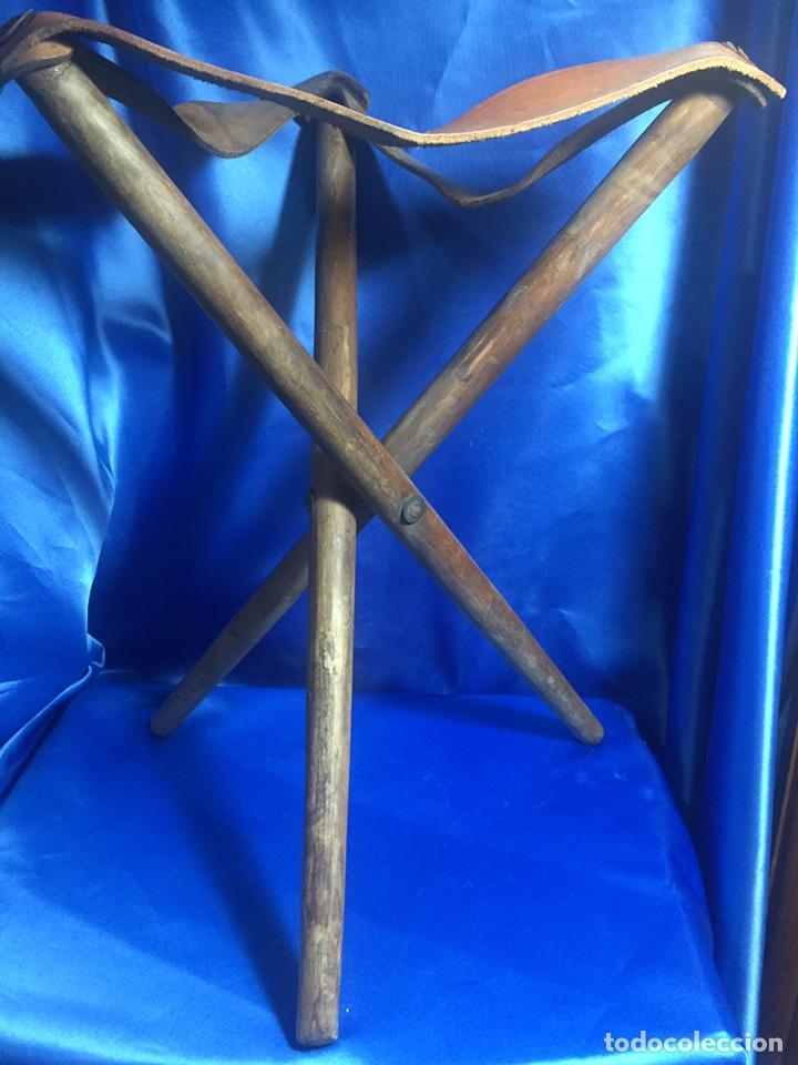 SILLA DE CAZA 45X39X34CM (Antigüedades - Técnicas - Rústicas - Caza)