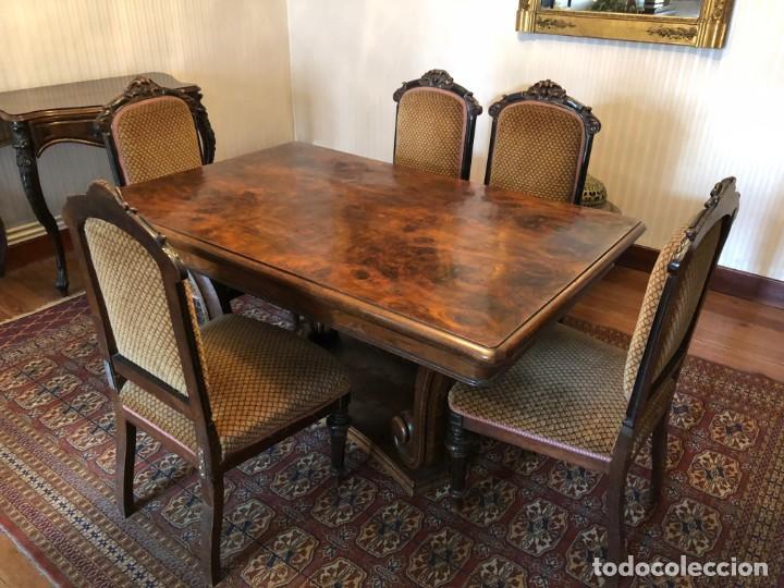 conjunto cinco sillas comedor isabelinas copete - Kaufen Antike ...