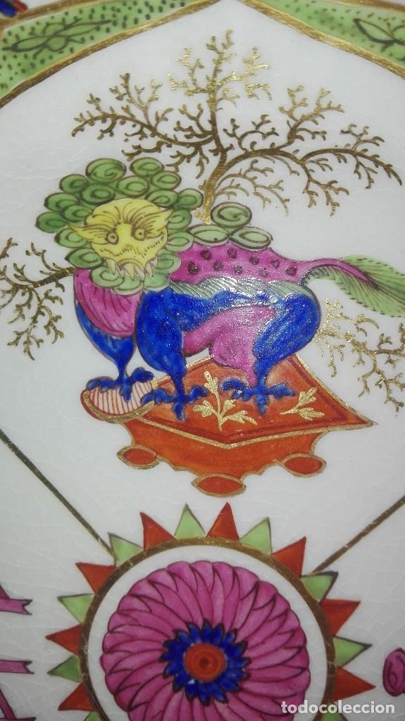 Antigüedades: ANTIGUO Y PRECIOSO PLATO DE PORCELANA POSIBLEMENTE COMPAÑÍA DE INDIAS - Foto 4 - 161728386