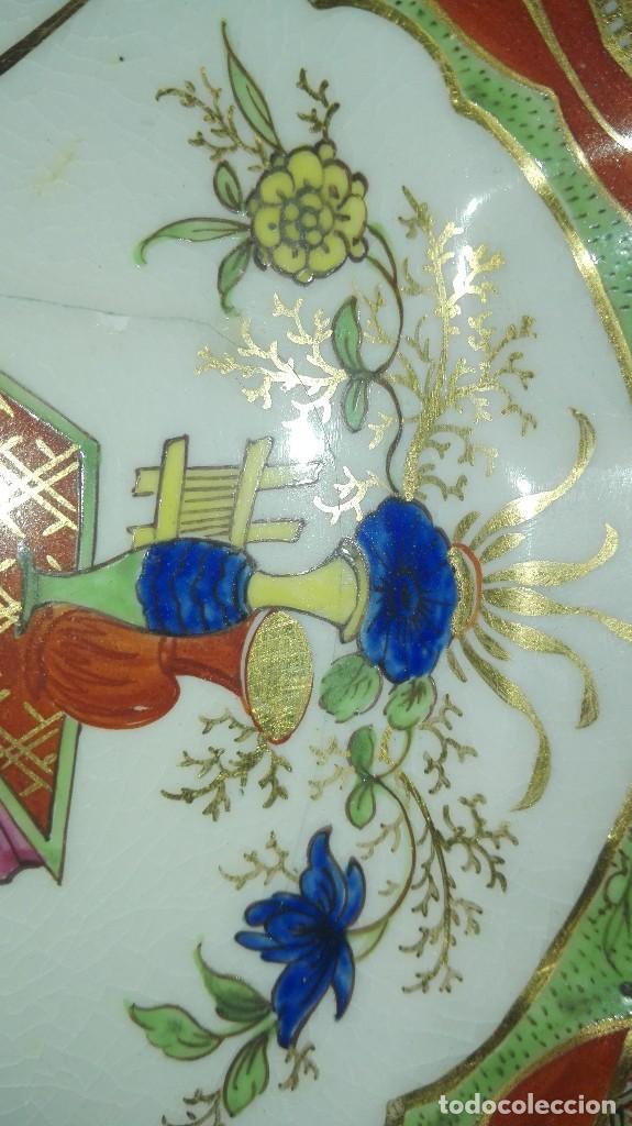 Antigüedades: ANTIGUO Y PRECIOSO PLATO DE PORCELANA POSIBLEMENTE COMPAÑÍA DE INDIAS - Foto 7 - 161728386
