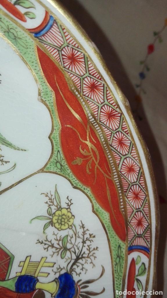 Antigüedades: ANTIGUO Y PRECIOSO PLATO DE PORCELANA POSIBLEMENTE COMPAÑÍA DE INDIAS - Foto 8 - 161728386