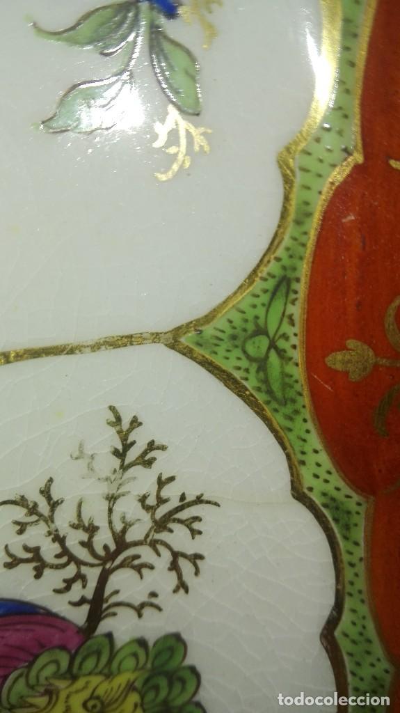Antigüedades: ANTIGUO Y PRECIOSO PLATO DE PORCELANA POSIBLEMENTE COMPAÑÍA DE INDIAS - Foto 9 - 161728386