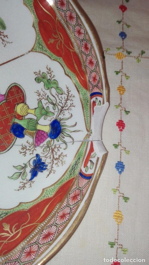 Antigüedades: ANTIGUO Y PRECIOSO PLATO DE PORCELANA POSIBLEMENTE COMPAÑÍA DE INDIAS - Foto 10 - 161728386