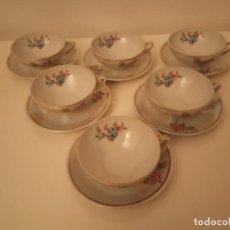 Antigüedades: JUEGO DE TÉ CAFÉ TAZAS Y PLATOS DE PORCELANA CHINA. Lote 161729370