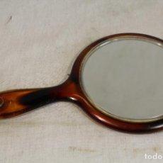 Antigüedades: ESPEJO DE MANO CAREY. Lote 161739922