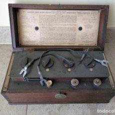 Antigüedades: MEDIDOR AMPERIMETRO, RESISTENCIA, ANTIGUO EVERSHED & VIGNOLES. Lote 161745234