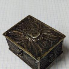 Antigüedades: PRECIOSA CAJITA COFRE EN FILIGRANA. Lote 161759341