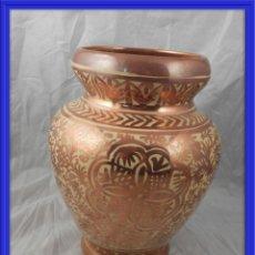 Antigüedades: JARRON DE MANISES CERAMICA DE REFLEJOS METALICOS GIMENO RIOS. Lote 161761286