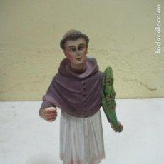 Antigüedades: EXCELENTE SANTO DE ESTUCO MEDIDAS 33CM. Lote 161765474