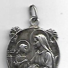 Antigüedades: SANTA ANA ,MEDALLA EN PLATA. Lote 161798470