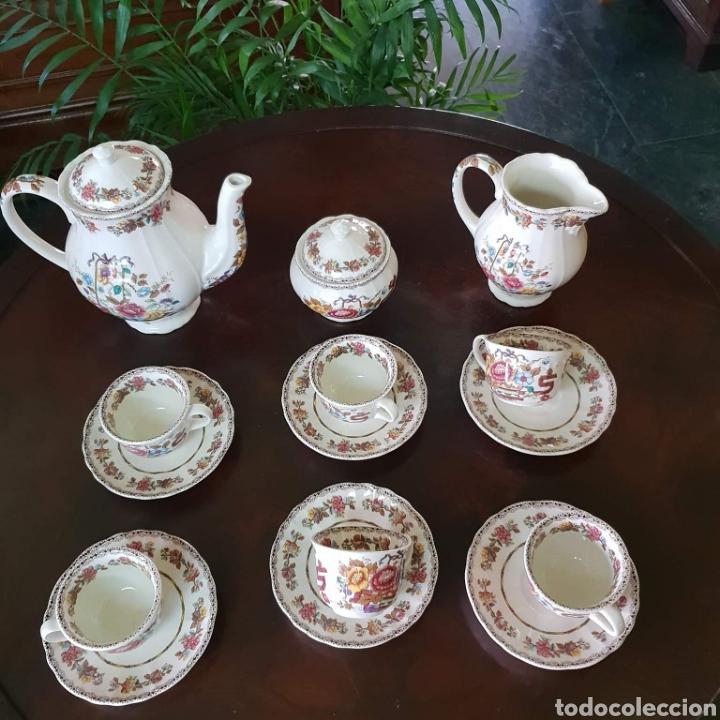 JUEGO DE CAFE SAN CLAUDIO. (Antigüedades - Porcelanas y Cerámicas - San Claudio)