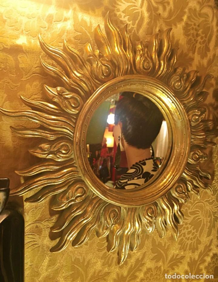Antigüedades: ESPEJO FORMATO SOL - Foto 5 - 161850966