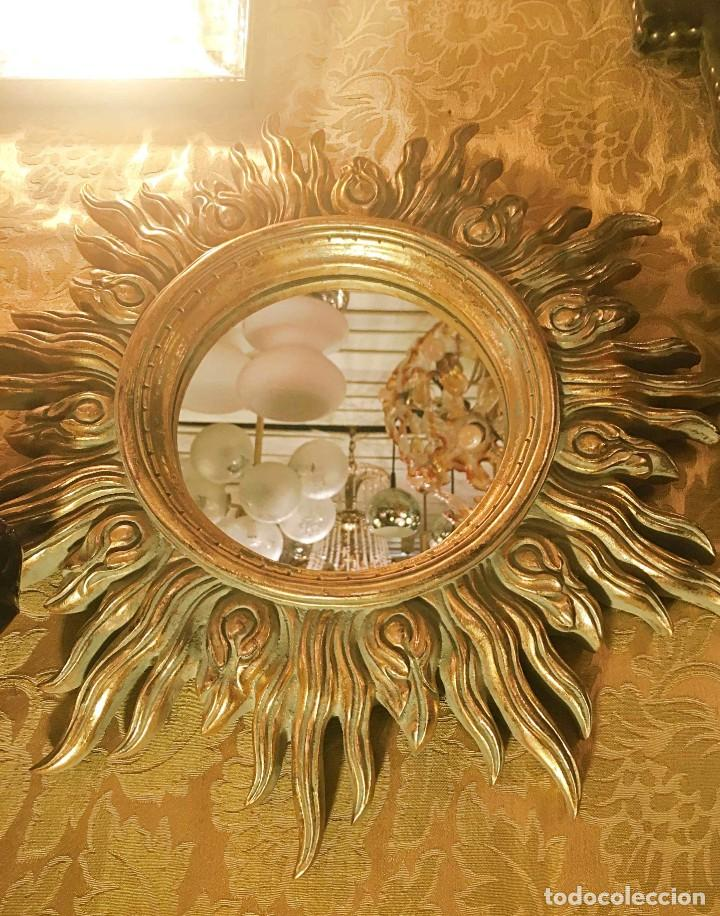 Antigüedades: ESPEJO FORMATO SOL - Foto 6 - 161850966