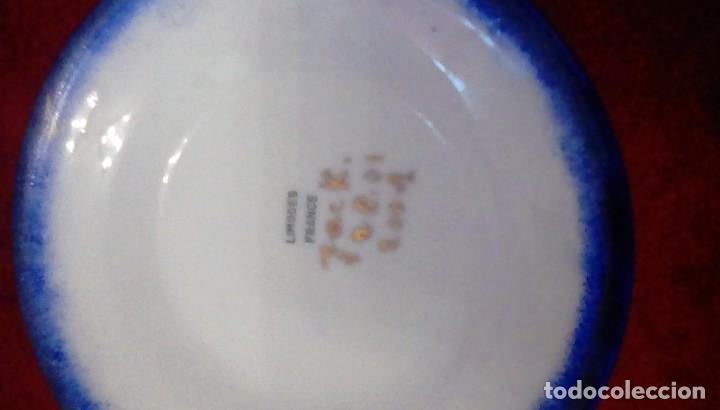 Antigüedades: Antigua cafetera con calentador de vela y taza para crema. Porcelana Limoges France. - Foto 8 - 161864066